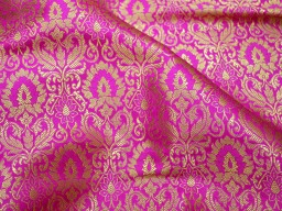 2.5 Meter Indian Wedding Dresses Lehenga Brocade Fabric Cushion Covers Table Runner Kids Dress Material clothing accessories