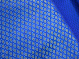 Blue Brocade Fabric for Bridal Wedding Dress fabric