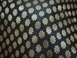 Dress Material Black Brocade Fabric Sewing fabric