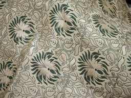 Beige Brocade Fabric by the yard Indian Banarasi Fabric Sewing Crafting Fabric Wedding Dress Banaras Fabric lehenga Dress Material Costume