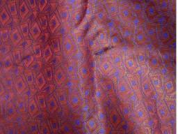 Maroon Brocade Fabric Indian Silk wedding dress brocade