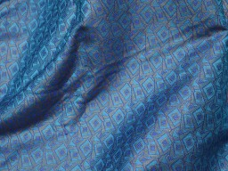 Blue Brocade Fabric by the yard Art Silk