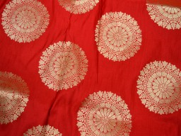 Indian Fabric Red Brocade Fabric by the Yard Banarasi Brocade Fabric Banaras Brocade Blended Silk Fabric for Wedding Dress fabric