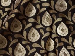 Indian Fabric Wedding Dress Black Brocade Material Silk