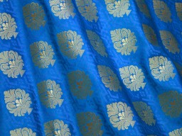 Benarasi blended silk brocade golden floral design fabric turquoise blue wholesale brocade by the yard occasion fabric curtain making material outdoor brocade online fabric hair crafting brocade tops