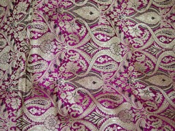 Benarasi blended silk brocade golden design fabric indian wholesale purple brocade by the yard occasion fabric curtain making material outdoor brocade online fabric hair crafting brocade tops fabric scrap booking projects brocade