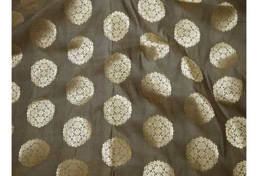 Brownish Grey Gold Banarasi Brocade