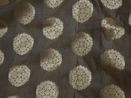Brownish Grey Gold Banarasi Brocade..