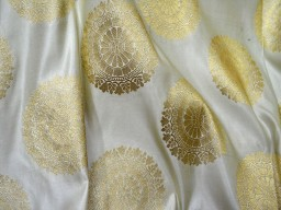 Banarasi Fabric cream Brocade Fabric Wedding Dress Fabric Brocade by the Yard Indian Fabric crafting fabric costume fabric