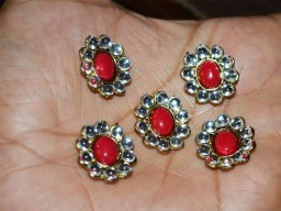 Rhinestone buttons Kundan Buttons or Flower Centers