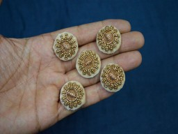 Beautiful and fancy gold decorative embellishment handcrafted fabric cover floral zardozi design button crafting supplies sewing