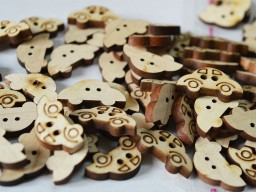 15mm car shaped wooden buttons Children Button Two Holes Sewing Button Cute Button Small Button For Dresses Natural Wooden Button in 10 Pieces