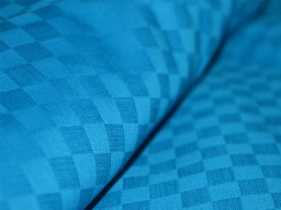 Blue Soft Glazed Cotton Fabric  Indian fabric  Blue Checks Textured Cotton Fabric
