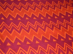 Screen Printed Indian Cotton fabric in MultiColor with Chevron / Zigzag Fabric