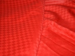 Red Soft Glazed Cotton Fabric, Indian