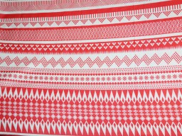 Geometric Striped Print Pure Cotton Apparal fabric