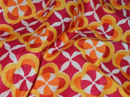 Pure Cotton Dress Fabric Screen Printed Soft Cotton Fabric