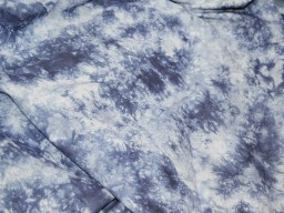 Dark Blue Printed Fabric Screen printed Tie Dye Soft Cotton Fabric