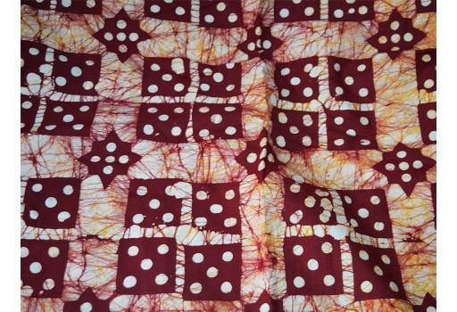 Batik Cotton Fabric  Batik Fabric Dark Maroon