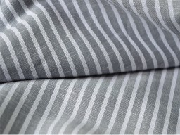 Extra wide pure striped linen fabric by the yard gray stripes towel table runner indian fabric for towels cushion covers sewing clothing
