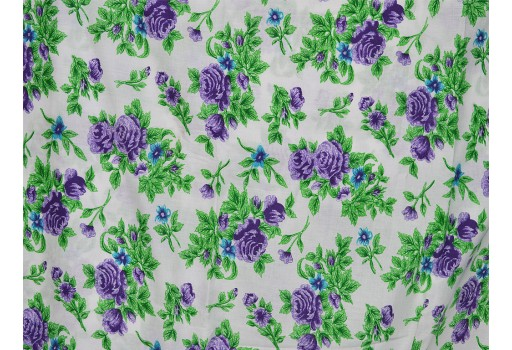 Floral Cotton Fabric / Print Indian Fabric