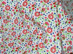 Floral Print Indian Summer Dresses Soft Cotton Fabric by yard Nursery Cribs Quilting Sewing Crafting Clothing Boho Dresses Pillow Covers