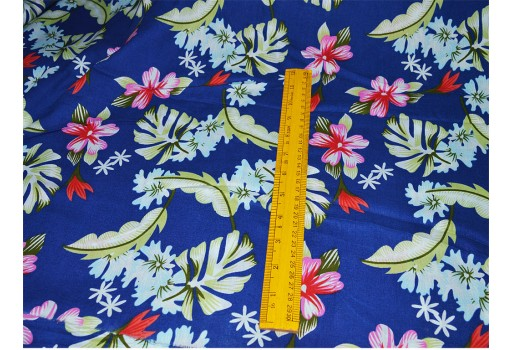 Floral Print Fabric printed cotton fabric Indian Fabric- soft cotton Fabric by the yard for Dress Nursery Quilting Crafting