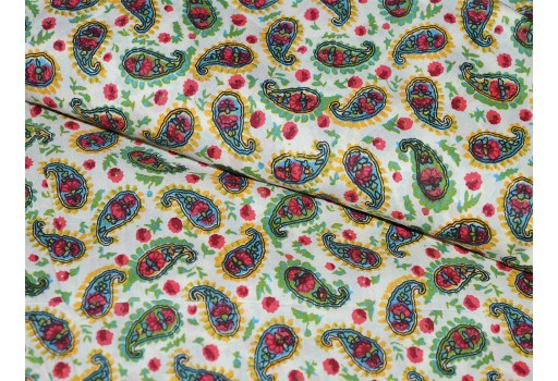 Extra wide Paisley Print Cotton Fabric Print Indian Fabric- soft cotton Fabric for Dress Nursery Quilting  Crafting