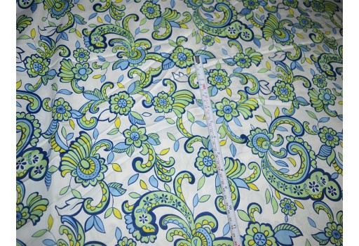 Floral Print Cotton fabric cotton fabric by the yard Print Indian Fabric- soft cotton Fabric for Dress  Nursery Quilting Crafting