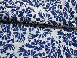 Indigo Blue Cotton Fabric  Indigo Cotton Fabric