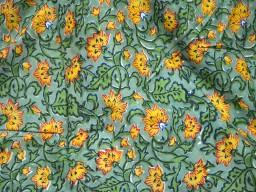 Hand Printed Fabric Boho Gypsy Dress