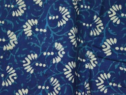 Indigo fabric Indigo Blue Cotton Fabric Block Printed Quilting Fabric vegetable dyed cotton fabric cotton fabric by the Yard