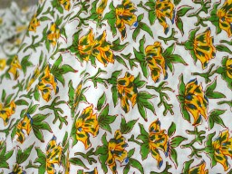 Block Printed Soft Cotton Fabric with Yellow