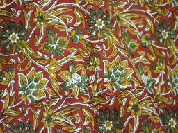 Fabric Indian Block Print Cotton Fabric