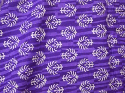 Fabric in Purple and White summer dress cotton