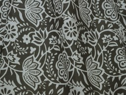 Brown Indian Floral Printed Summer Dresses Soft Cotton Fabric by yard Nursery Cribs Quilting Sewing Crafting Clothing Boho Dresses Cushions