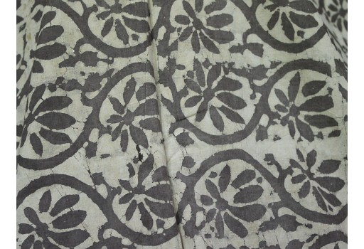 Cotton fabric in Dabu Block Print in paisley design
