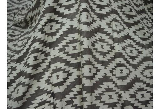 Cotton Dabu Block Print in geometric design fabric