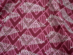 Pure Soft Cotton Fabric in Wine Color and White