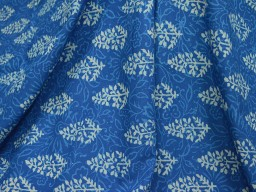 Block print in Blue and white Boho Gypsy Dress Fabric
