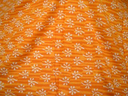 Orange Hand Block Printed Soft Fabric by the Yard Summer Dresses Indian Pure Cotton Quilting Sewing Crafting Drapery Apparel Baby Nursery