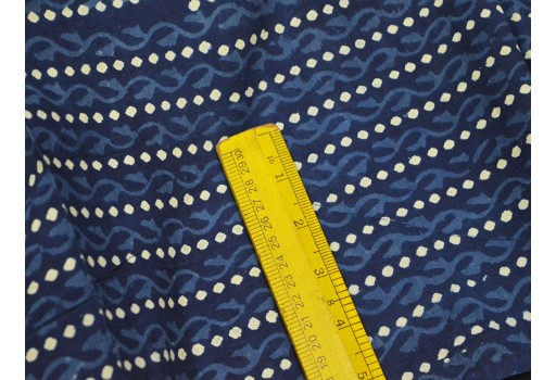 Block print Indigo Fabric Mud Cloth Hand Stamped