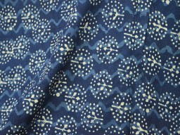Indigo and White hand block print fabric..