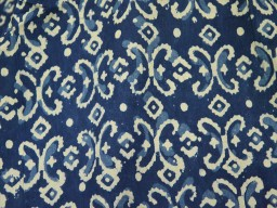 Indian Quilting Fabric Indigo Blue Vegetable dyed Hand Block Printed
