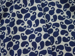 Summer dress fabric skirts Indigo Blue Cotton