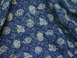 Quilting Indigo Blue Indian Hand Block Printed Geometric Cotton sold by Yard Sewing Crafting Drapes Curtain Summer Women Kids Apparel fabric