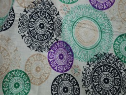 Pure Cotton Dress Fabric in Mandala Pattern Screen Printed