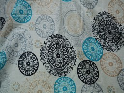 Pure Cotton Dress Fabric in Mandala Pattern Soft Cotton