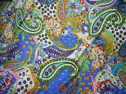Cotton Fabric in Multi color with Paisley Print