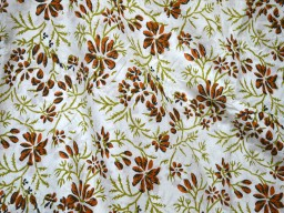 Bohemian Block Printed cotton fabric Soft Hand printed